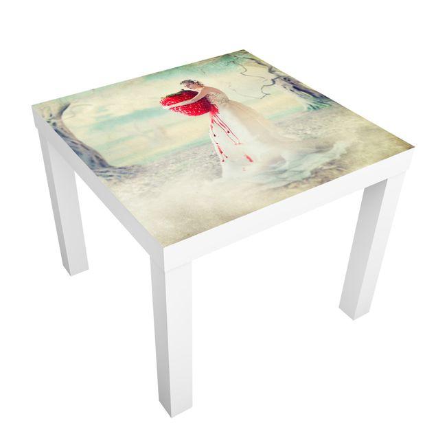 Möbelfolie für IKEA Lack - Klebefolie Strawberryprincess