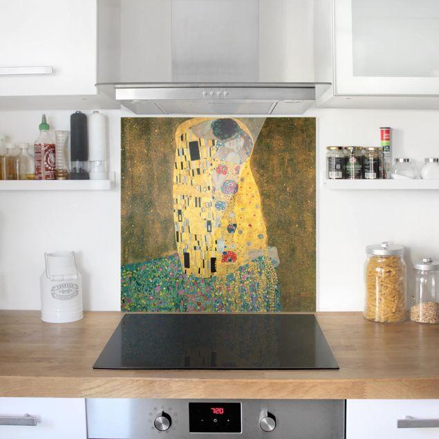 Glas Spritzschutz - Gustav Klimt - Der Kuß - Quadrat - 1:1