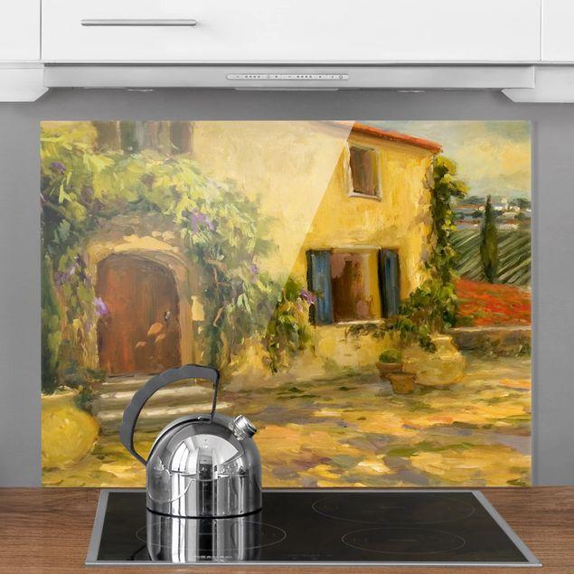 Glas Spritzschutz - Italienische Landschaft - Toskana - Querformat - 4:3