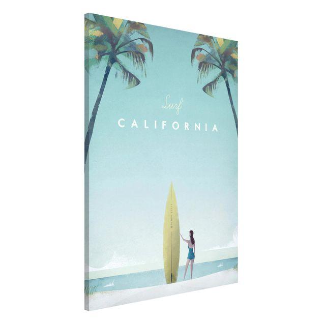 Magnettafel - Reiseposter - California - Memoboard Hochformat 3:2