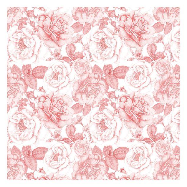 Fototapete - Pfingstrosen Muster Rosa