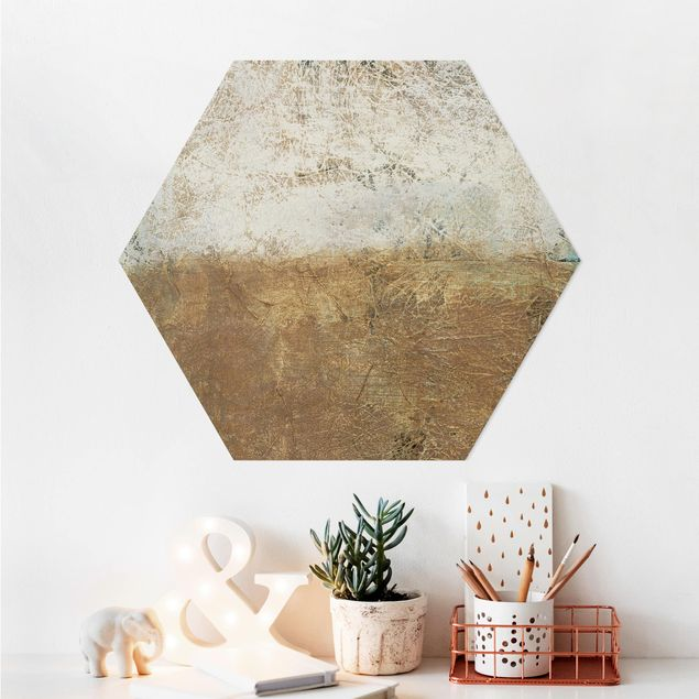 Hexagon Bild Alu-Dibond - Elements of Life