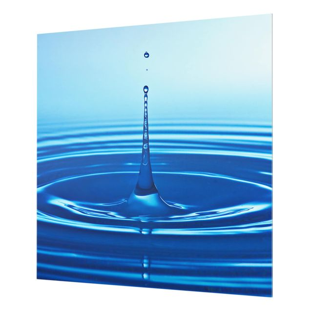 Glas Spritzschutz - No.263 Drop with Waves - Quadrat - 1:1