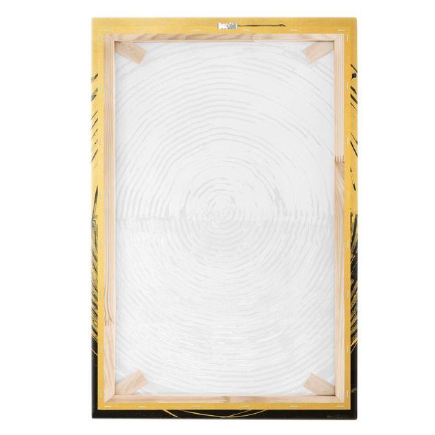 Leinwandbild Gold - Verschmelzung Schwarz Weiß - Hochformat 2:3