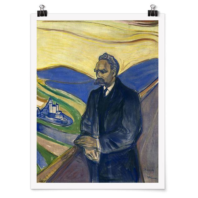 Poster - Edvard Munch - Porträt Nietzsche - Hochformat 3:4