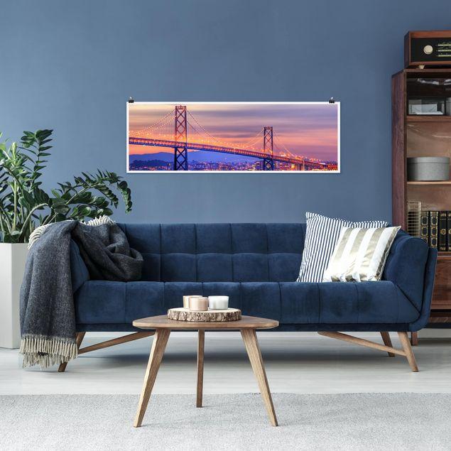 Poster - Bay Bridge - Panorama Querformat