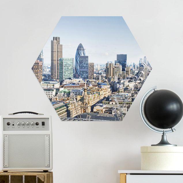 Hexagon Bild Alu-Dibond - City of London