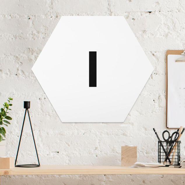 Hexagon Bild Forex - Buchstabe Weiß I