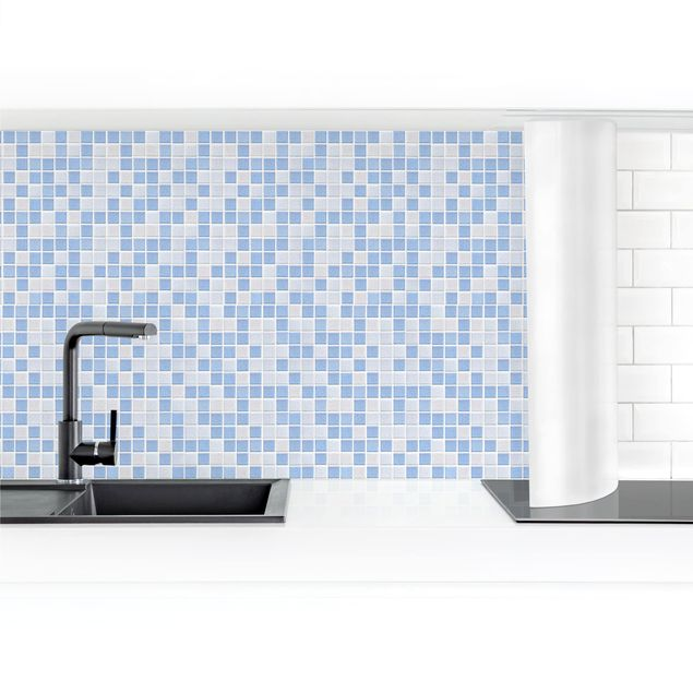 Küchenrückwand - Mosaikfliesen Hellblau