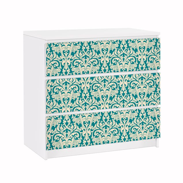 Möbelfolie für IKEA Malm Kommode - Klebefolie The 12 Muses - Aoide