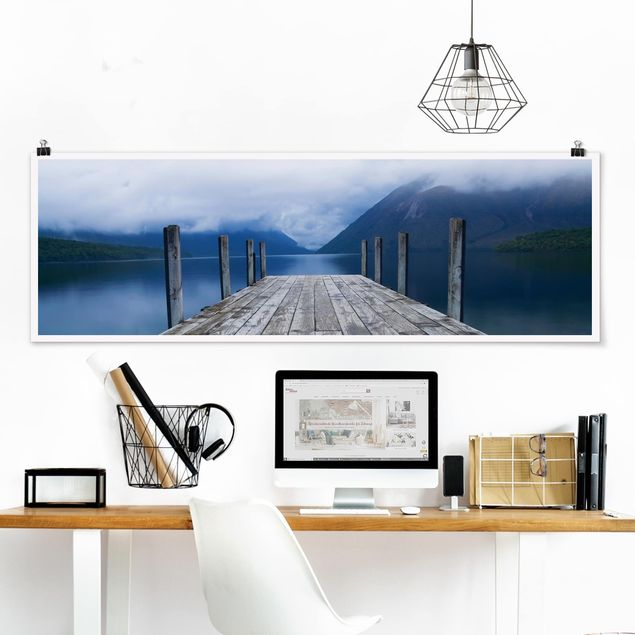 Poster - Nelson Lakes National Park - Panorama Querformat