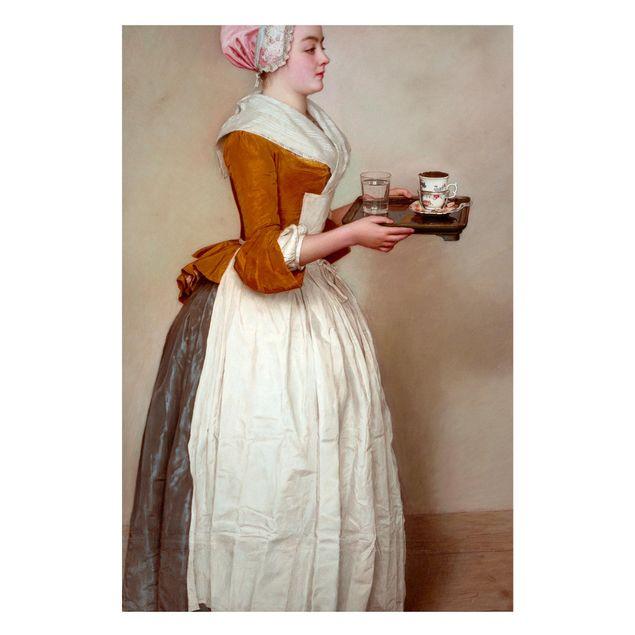 Magnettafel - Jean Etienne Liotard - Das Schokoladenmädchen - Memoboard Hochformat 3:2