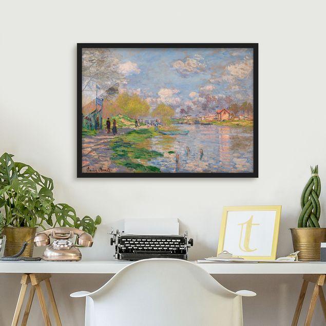 Bild mit Rahmen - Claude Monet - Seine - Querformat 3:4