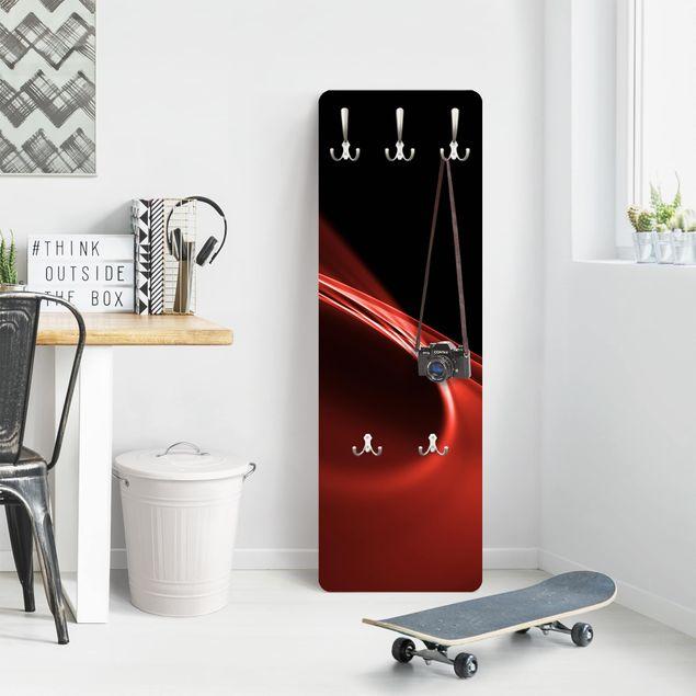 Design Garderobe - Red Wave - Rot Schwarz