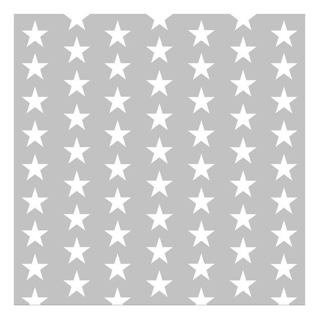 Beistelltisch - Weiße Sterne auf grauen Hintergrund