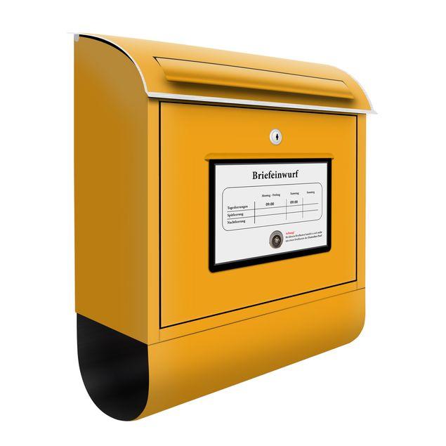 Deutscher Briefkasten - Postkasten - mit Zeitungsfach