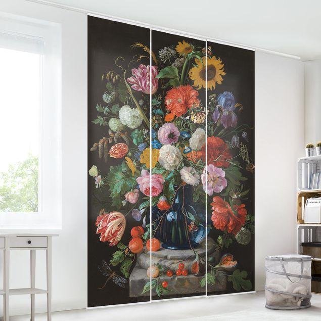 Schiebegardinen Set - Jan Davidsz de Heem - Glasvase mit Blumen - 3 Flächenvorhänge