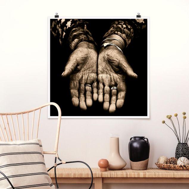 Poster - Indian Hands - Quadrat 1:1