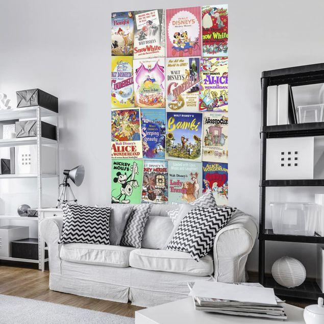 Disney Kindertapete - Disney Movie Posters Retro Girls - Komar Fototapete