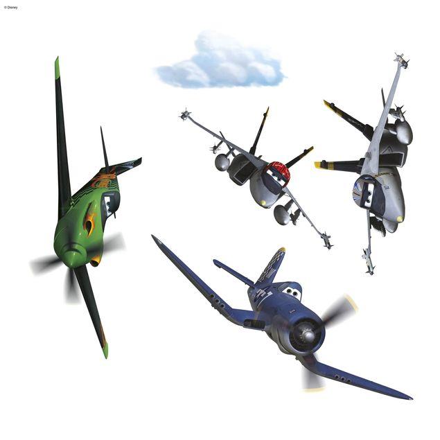 Disney Planes Fenstersticker - Planes Set - Komar Deco-Sticker
