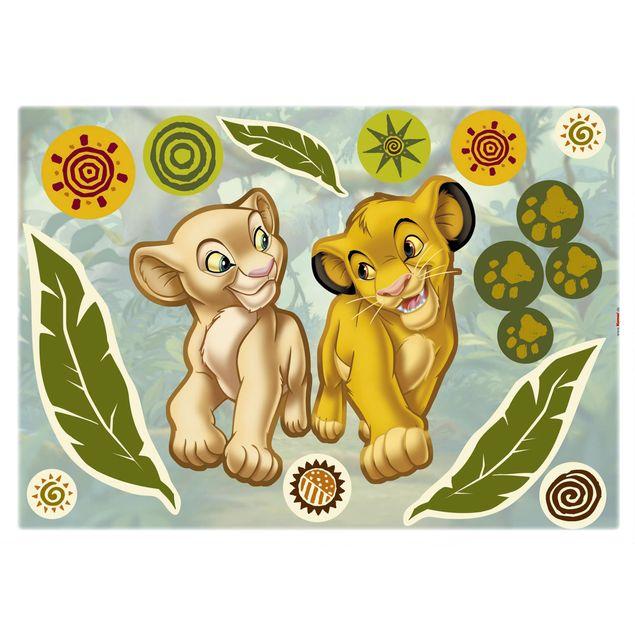 Disney's Der König der Löwen Wandtattoo - Simba und Nala - Komar Deco-Sticker