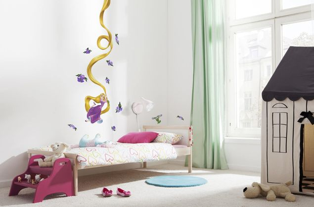 Disney Wandtattoo Kinderzimmer Rapunzel Komar Deco Sticker