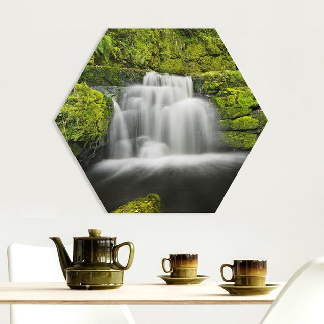 Hexagon Bild Forex - Lower McLean Falls in Neuseeland