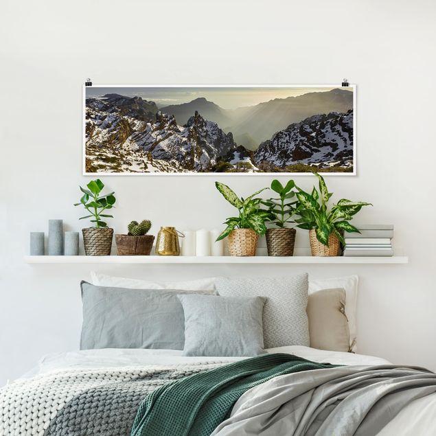 Poster - Berge in La Palma - Panorama Querformat