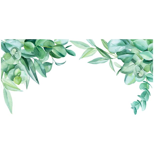 Wandtattoo - Aquarell Eukalyptus Ornament XXL