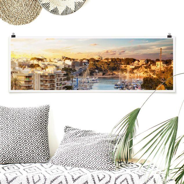 Poster - Sunny Porto Cristo - Panorama Querformat