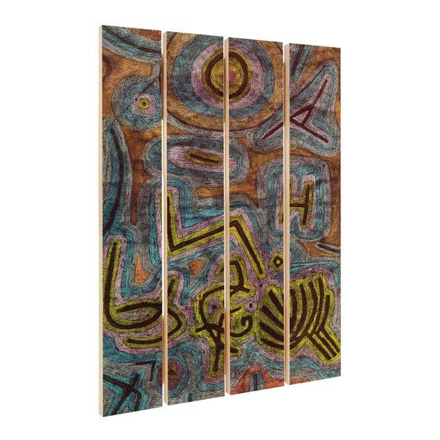 Holzbild - Paul Klee - Katharsis - Hochformat 3:2