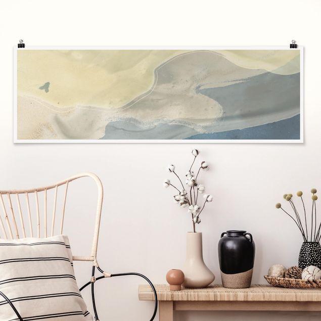 Poster - Ozean und Wüste I - Panorama Querformat