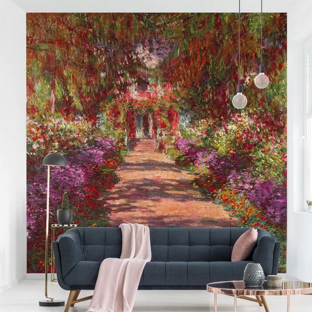Fototapete - Claude Monet - Weg in Monets Garten in Giverny