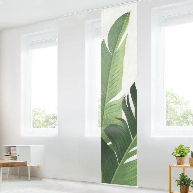 Schiebegardinen Set - Lieblingspflanzen - Banane - Flächenvorhang