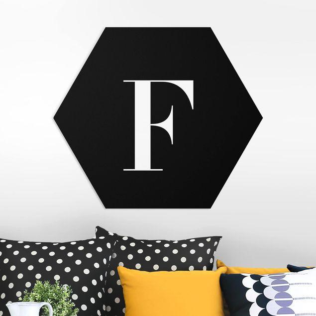 Hexagon Bild Forex - Buchstabe Serif Schwarz F