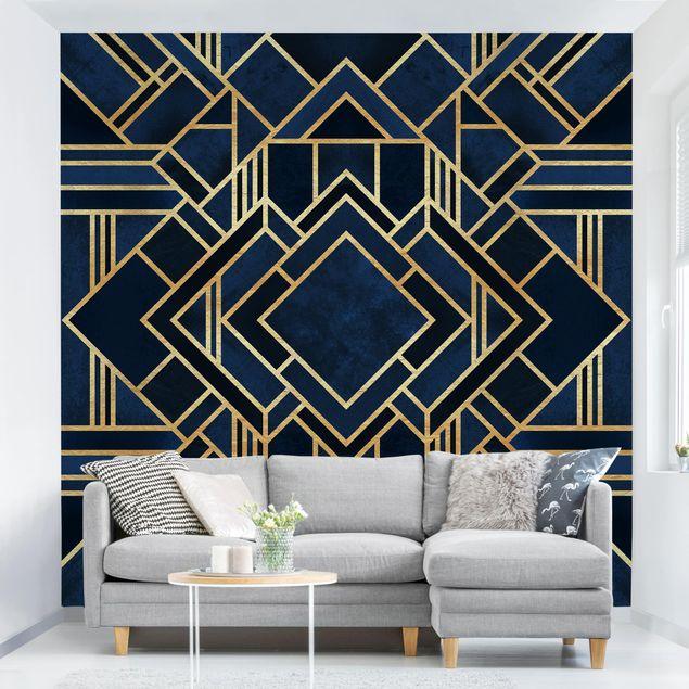Fototapete - Art Deco Gold - Fototapete Quadrat
