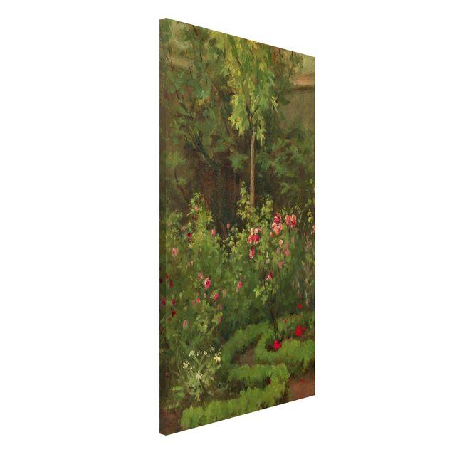 Magnettafel - Camille Pissarro - Ein Rosengarten - Memoboard Hochformat 4:3