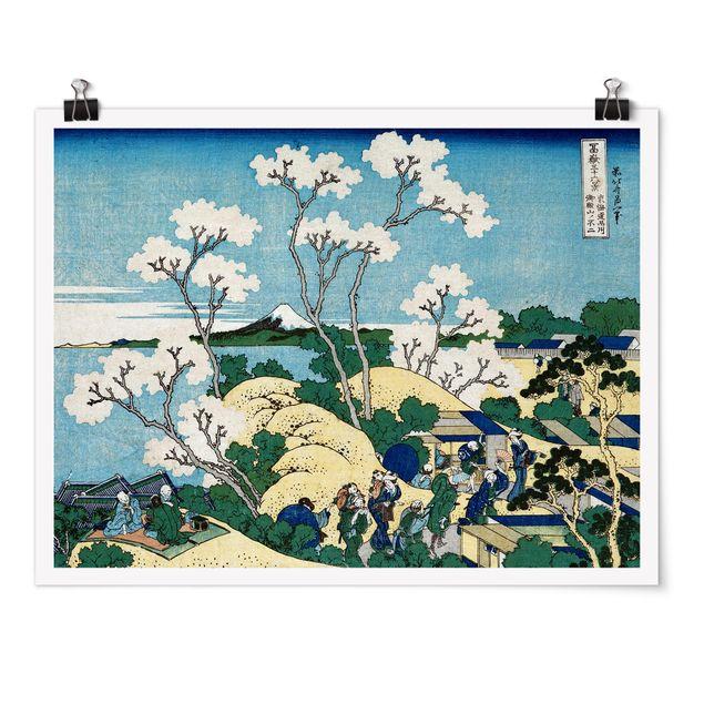 Poster - Katsushika Hokusai - Der Fuji von Gotenyama - Querformat 3:4