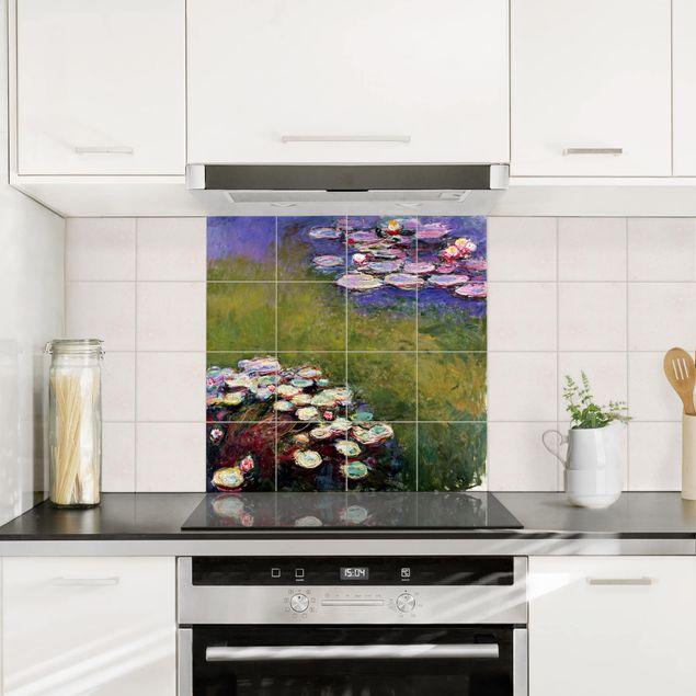 Fliesenbild - Claude Monet - Seerosen - Fliesensticker Set quadratisch