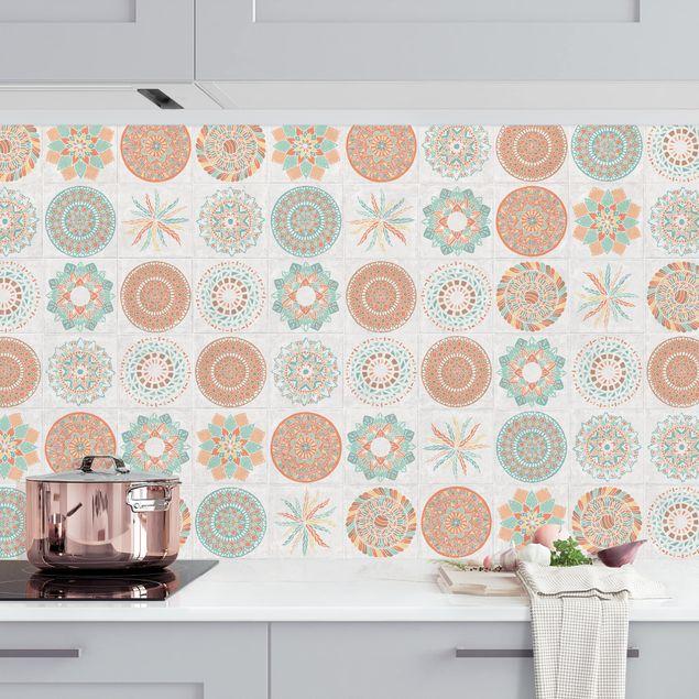 Küchenrückwand - Handgemaltes Mandala Muster