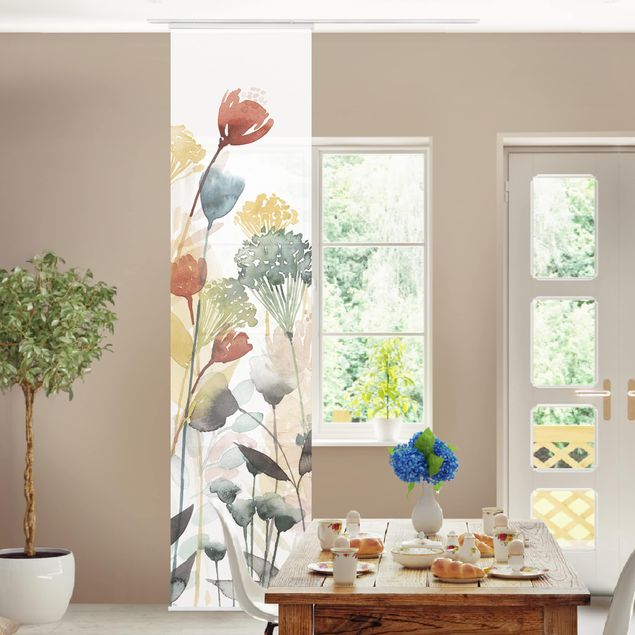 Schiebegardinen Set - Wildblumen im Sommer II - Flächenvorhang