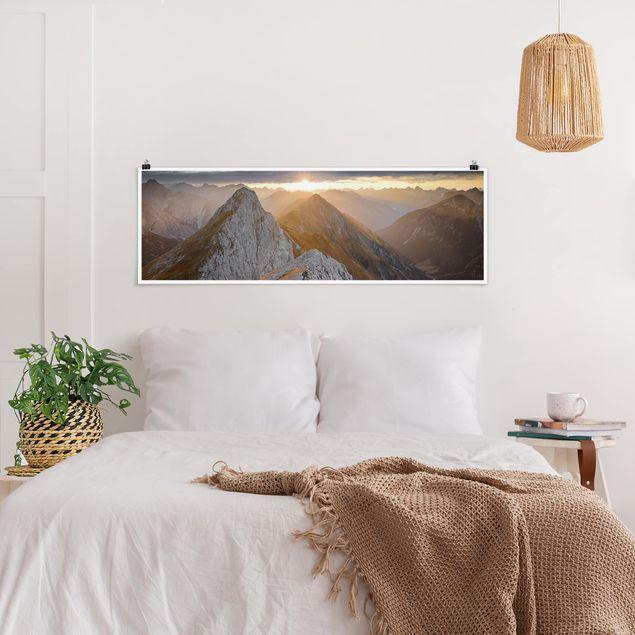 Poster - Lechtaler Alpen - Panorama Querformat