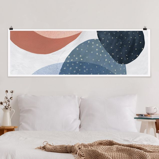 Poster - Orbit mit Punkten II - Panorama Querformat