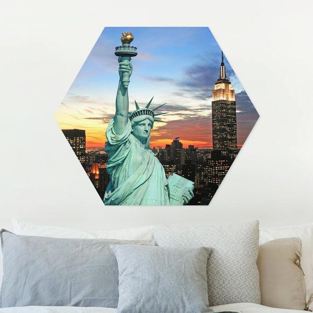 Hexagon Bild Forex - New York at Night