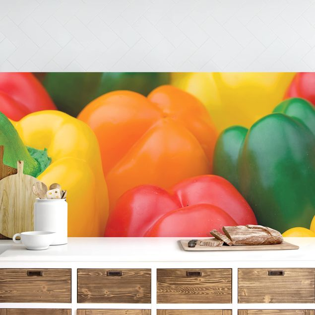 Küchenrückwand - Bunte Paprikaschoten