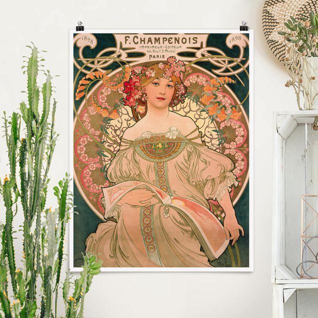 Poster - Alfons Mucha - Plakat für F. Champenois - Hochformat 3:4