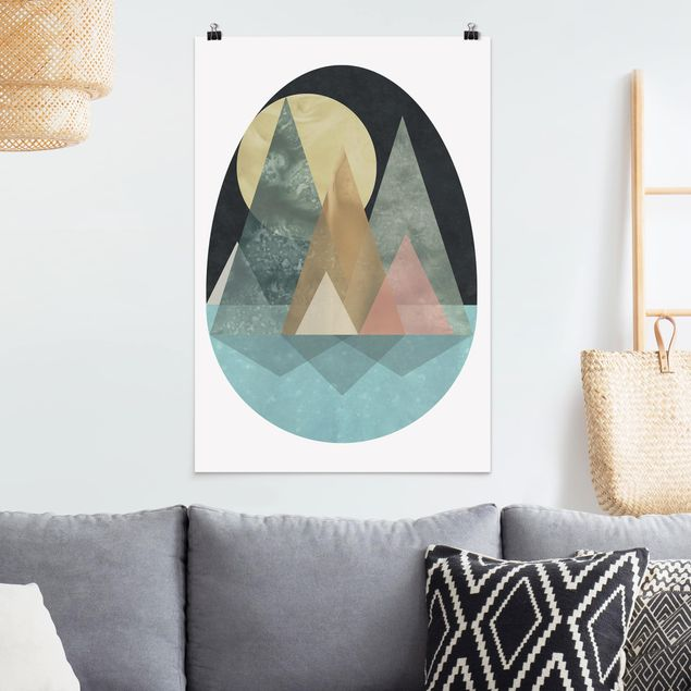 Poster - Utopische Landschaft - Sonne - Hochformat 3:2