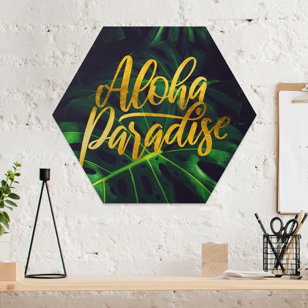 Hexagon Bild Forex - Dschungel - Aloha Paradise