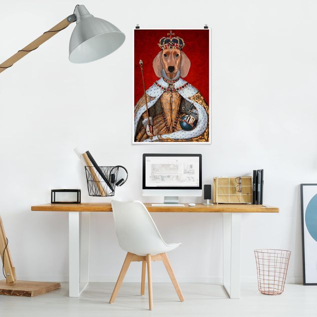 Poster - Tierportrait - Dackelkönigin - Hochformat 3:2