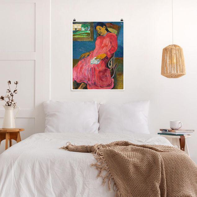 Poster - Paul Gauguin - Melancholikerin - Hochformat 3:4